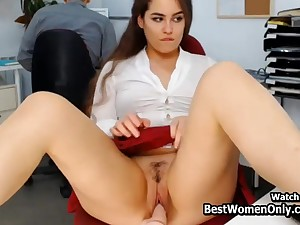 Latin Couple In any case by dint of Dildo Webcam Play the part In Office